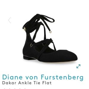 Dakar Ankle Tie Flat NWOB